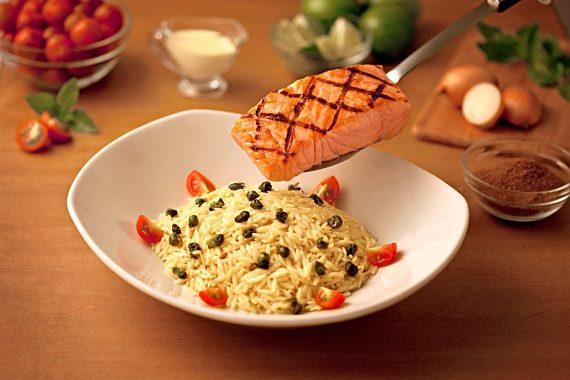 Salmone & Orzo Pasta baixa