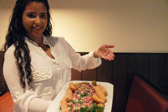 Fernanda apresenta prato reduzida para GM7